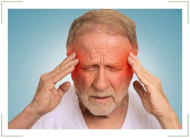 Головная боль в области уха и головокружение