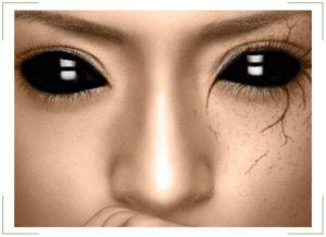 Склеральные линзы черные на весь глаз